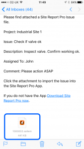 site_report_pro_app_assigned_issue_email
