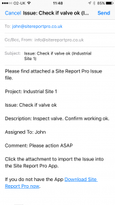 site_report_pro_app_email_issue